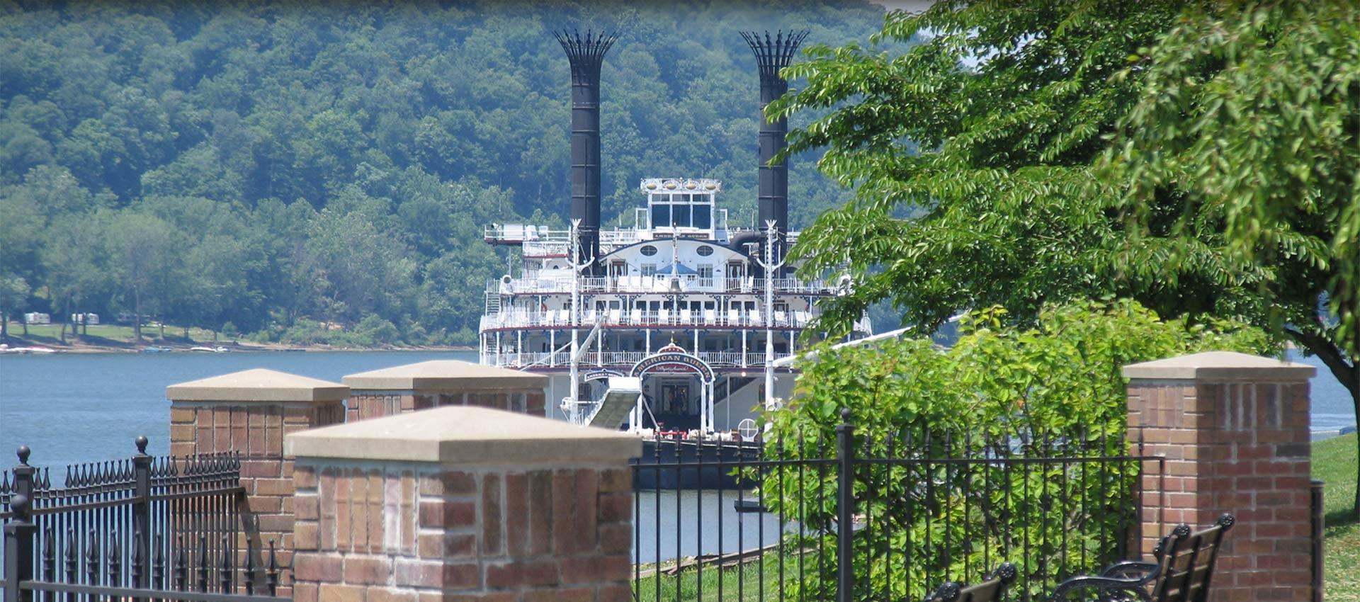 Paddlewheel on Ohio River
